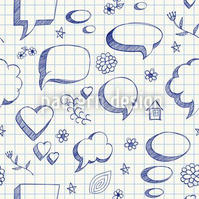 Speach bubble Doodles Repeat