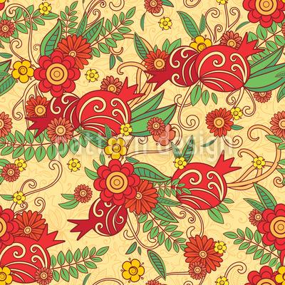 Granatapfel-Blumen Vektor Design