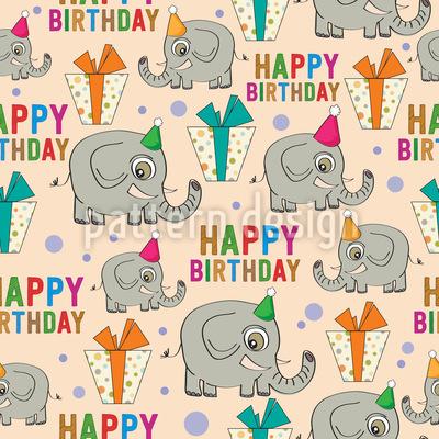 Alles Gute zum Geburtstag Elefanten Musterdesign