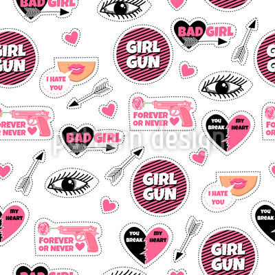 Girly Fashion Patches Vector Design