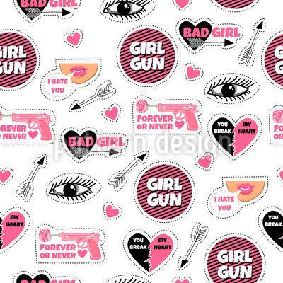 Mädchen Trendaufnäher Vektor Design