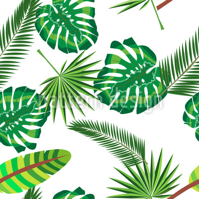 Tropische Szene Rapportiertes Design