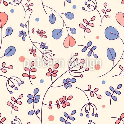 Neue Botanische Eindrücke Nahtloses Muster