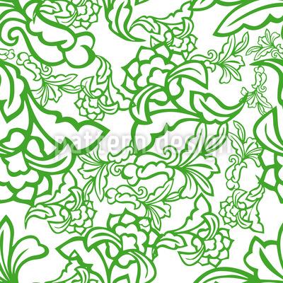 Orientalische Ranken Nahtloses Vektormuster