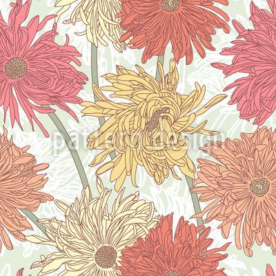 Chrysanthemen Blüte Muster Design