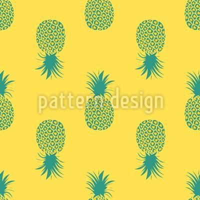 Sonnengeküsste Ananas Vektor Ornament