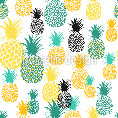 Raccolta di ananas disegni vettoriali senza cuciture