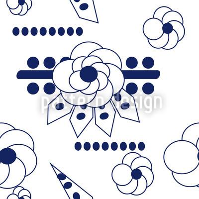 Flowers Blues Vector Pattern