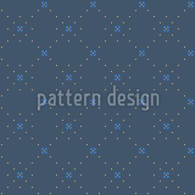 Kreuzung Der Blumenpunkte Rapportiertes Design