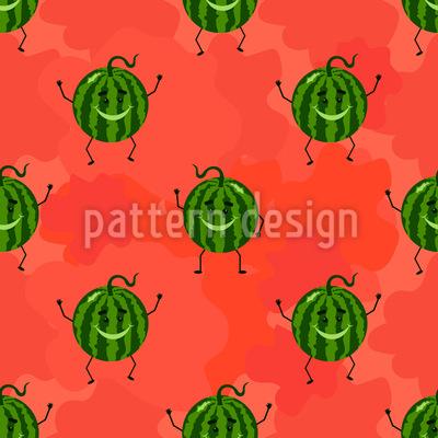 Glückliche Melone Musterdesign