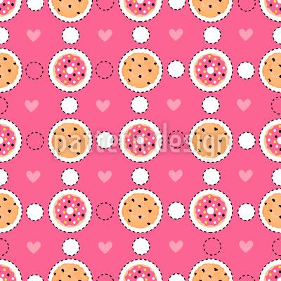 Süß Und Lecker Nahtloses Muster