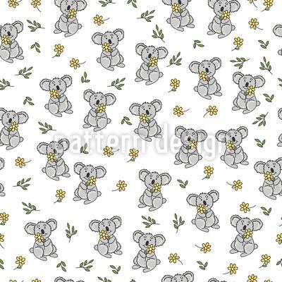 Koala und Blumen Vektor Design