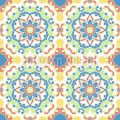 Geerdete Flora Nahtloses Vektor Muster