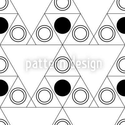 Triple Dot Black Seamless Vector Pattern Design
