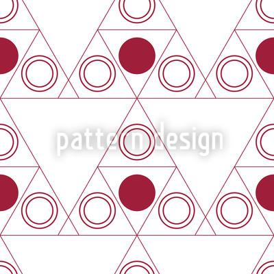 Triple Dot Rot Musterdesign