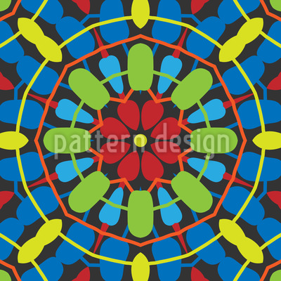 Twister Mandala Muster Design