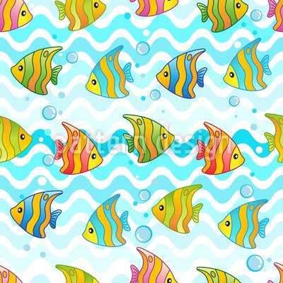Lustige Fischlein Feier Rapportiertes Design