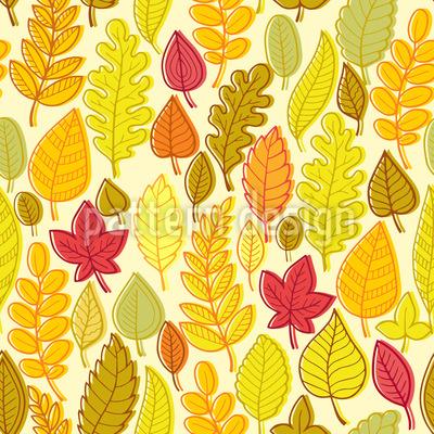 Getrocknete Blätter Rapportmuster