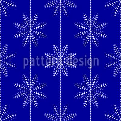 Aufgereihte Schneeflocken Nahtloses Vektor Muster