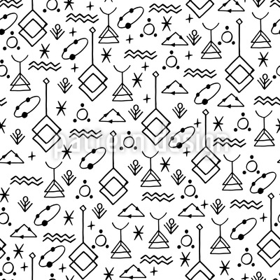 Symbolic pattern Seamless Vector Pattern Design