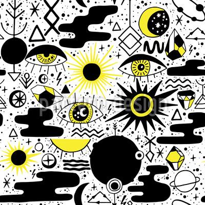 Abstrakte Sonnenfinsternis Rapport