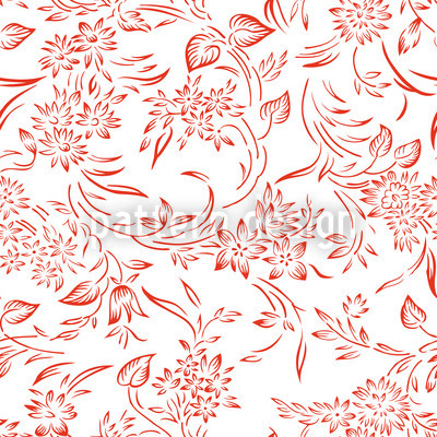 Breakfest In Gent Red Design Pattern