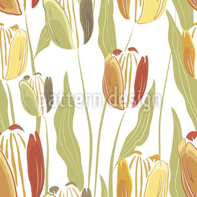 Filigrane gezeichnete Tulpe Vektor Design