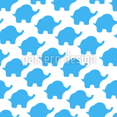 Abstract Elephant Form Repeat Pattern