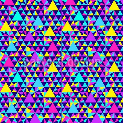 Verschiedene Geometrische Dreiecke Designmuster