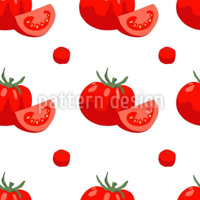 ジューシーなトマト シームレスなベクトルパターン設計