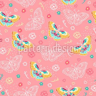 エレガントな蝶 シームレスなベクトルパターン設計