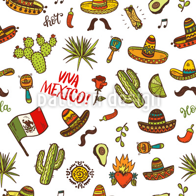Viva Mexico Doodles Repeat