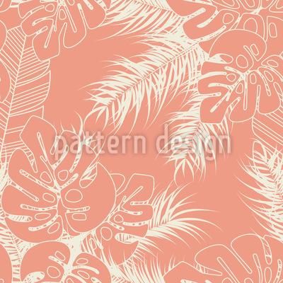 Tropische Monstera Palmblätter Musterdesign