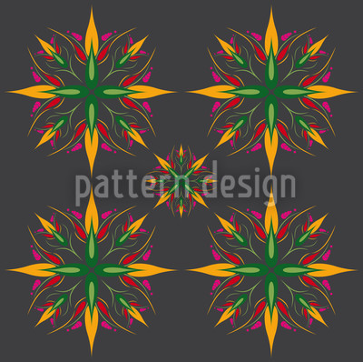 Manga Starflower Repeating Pattern