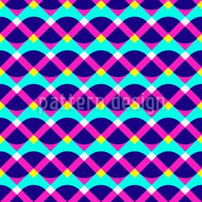 Neon-Geometrie Rapportmuster