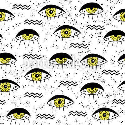 Alle Augen Auf Dich Gerichtet Nahtloses Muster
