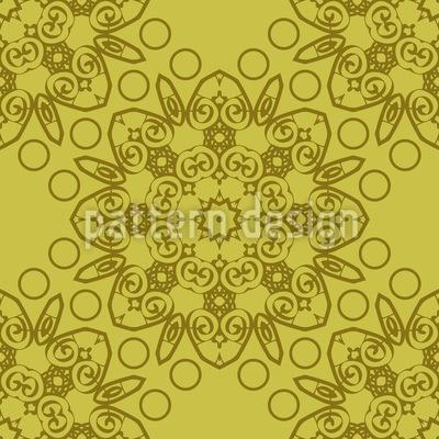 Floral Verzierte Rosette Nahtloses Vektor Muster