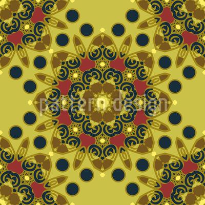 Floral Rosette Vektor Design
