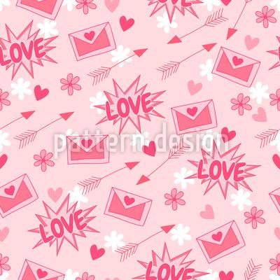 Schöne Liebesbriefe Muster Design