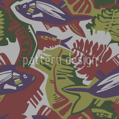 Dekorative Fauna Vektor Ornament