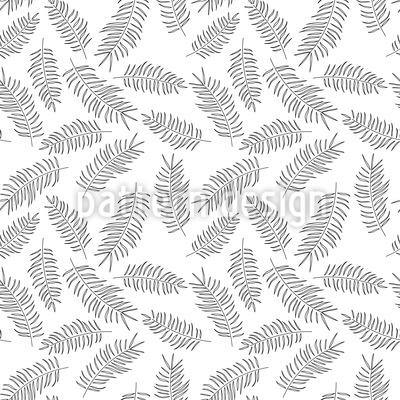 Zarte Feder Blätter Designmuster
