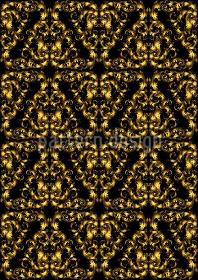 Golden baroque masks Vector Design