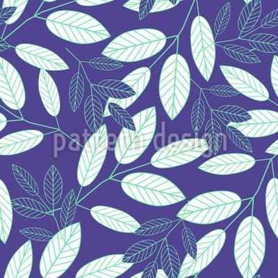 Botanische Blätter Rapportiertes Design