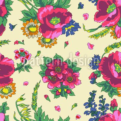 jóias de flores ucraniano Design de padrão vetorial sem costura