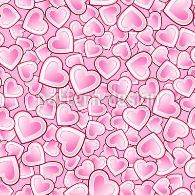 Herzen schlagen in einem Takt Vektor Ornament