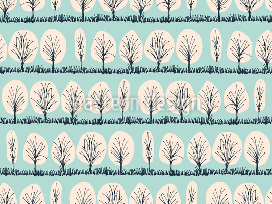 Winterbäume Nahtloses Vektor Muster
