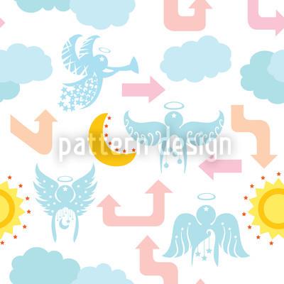 Stadt Der Engel Muster Design