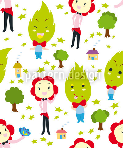 Familiengrün Musterdesign