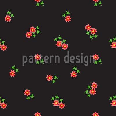 小さな繊細な花 シームレスなベクトルパターン設計