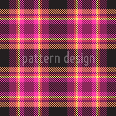 Plaid Fabric With Stripes Seamless Pattern